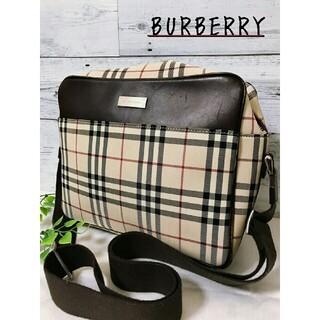 バーバリー(BURBERRY)のBURBERRY  ショルダーバッグ  ノバチェック  箱型 ダークブラウン (ショルダーバッグ)