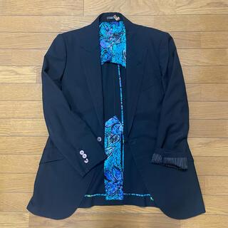 ジャンニヴェルサーチ(Gianni Versace)の80s ビンテージ ジャンニヴェルサーチ セットアップ イタリア製 黒(セットアップ)