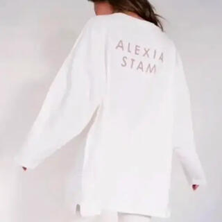 アリシアスタン(ALEXIA STAM)のALEXIASTAM バックロゴT  ロンT(Tシャツ(長袖/七分))