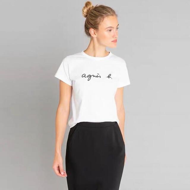 agnes b.(アニエスベー)の⭐️アニエスベー 半袖Tシャツ ホワイト Mサイズ⭐️ レディースのトップス(Tシャツ(半袖/袖なし))の商品写真