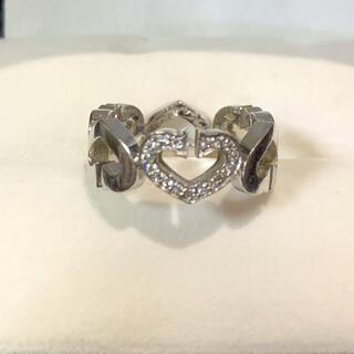 カルティエ(Cartier)のカルティエCハート1Pダイヤリング(リング(指輪))