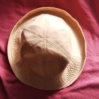 エル(ELLE)のELLE エル 帽子 淡いオレンジ色(ハット)