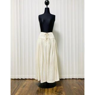 ラルフローレン(Ralph Lauren)のラルフローレン ラルフ ロングスカート スカート フレア タックスカート リネン(ロングスカート)