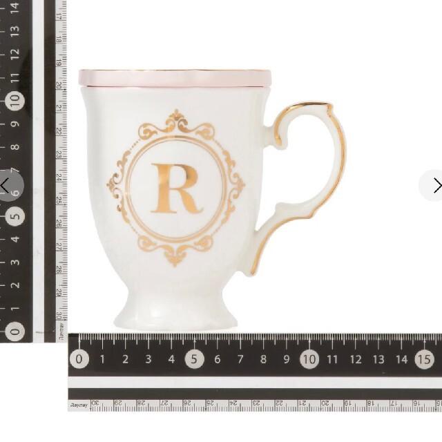 Francfranc(フランフラン)のFrancfranc イニシャルマグカップとイニシャルスプーン インテリア/住まい/日用品のキッチン/食器(グラス/カップ)の商品写真