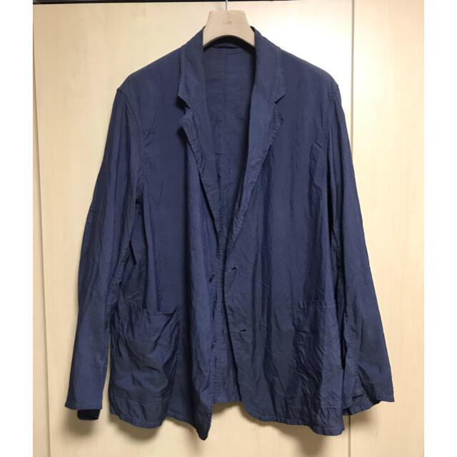 COMOLI(コモリ)のcomoli 21ss コットンシルク ジャケット navy サイズ2 メンズのジャケット/アウター(テーラードジャケット)の商品写真