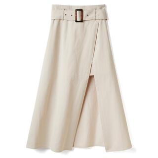 GRL - ベルト付きレイヤード風スリットスカート