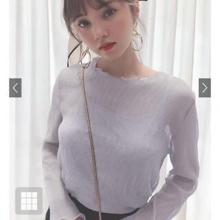 GRL - インナー付き楊柳シフォントップス