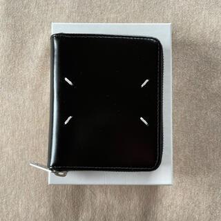 マルタンマルジェラ(Maison Martin Margiela)の21SS新品 メゾンマルジェラ ジップ 折り財布 カーフスキン メンズ ブラック(折り財布)