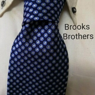 Brooks Brothers - 美品★ブルックスブラザーズ★美しい小紋柄高級シルクネクタイ★エレガント★希少