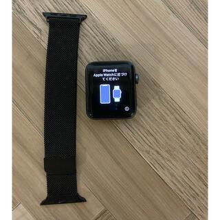 アップルウォッチ(Apple Watch)のアップルウォッチ3 42mmスペースグレイ(スマートフォン本体)
