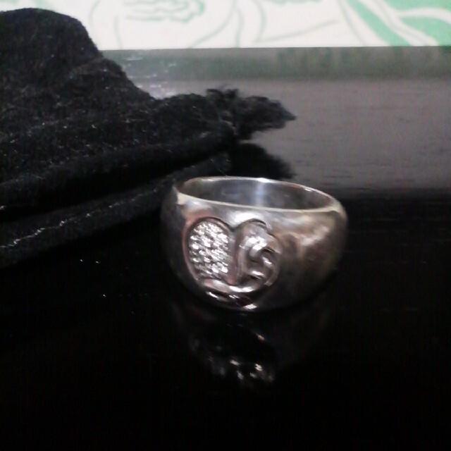 Chrome Hearts(クロムハーツ)の値下げなし。CHROME HEARTS  ダイヤ入りハートリング メンズのアクセサリー(リング(指輪))の商品写真