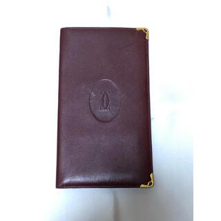 カルティエ(Cartier)のカルティエ マストドゥカルティエ 長財布 ボルドー(財布)