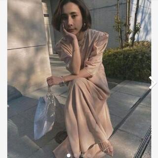 Ameri VINTAGE - 新品タグ付 MEDI 2WAY PUFF SLEEVE DRESS ピンク M