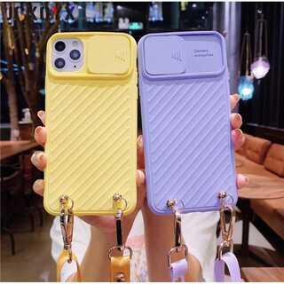 大人気?ストラップ付きiPhoneケース?オシャレで便利?全6色(iPhoneケース)
