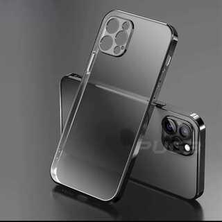 売り切れ続出!クリア 透明 メタリック シンプル iPhone ケース(iPhoneケース)