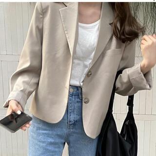 オオトロ(OHOTORO)のas sense ジャケット crop jacket 韓国オルチャンファッション(ノーカラージャケット)