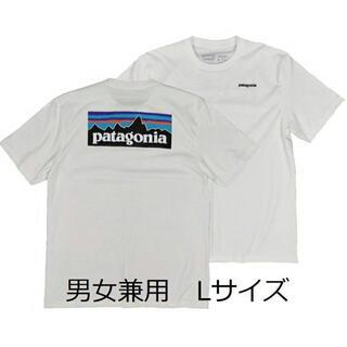 パタゴニアTシャツ 白 L ベストセラー アウトドア サーフボード バイク