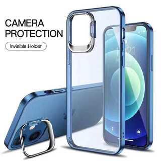 新作!全4色♪大人クリア TPU スタンド機能 レンズ保護 iPhone(iPhoneケース)