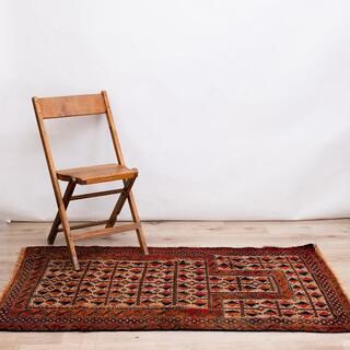 152x94cm 手織り バルーチ ヴィンテージ アフガン 絨毯 ペルシャ
