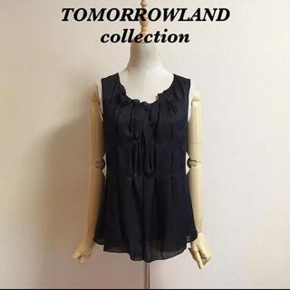 トゥモローランド(TOMORROWLAND)のTOMORROWLAND collection シルクノースリーブブラウス(シャツ/ブラウス(半袖/袖なし))