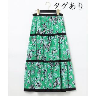 GRACE CONTINENTAL - 美品!フラワープリントスカート グリーン グレースコンチネンタル ダイアグラム