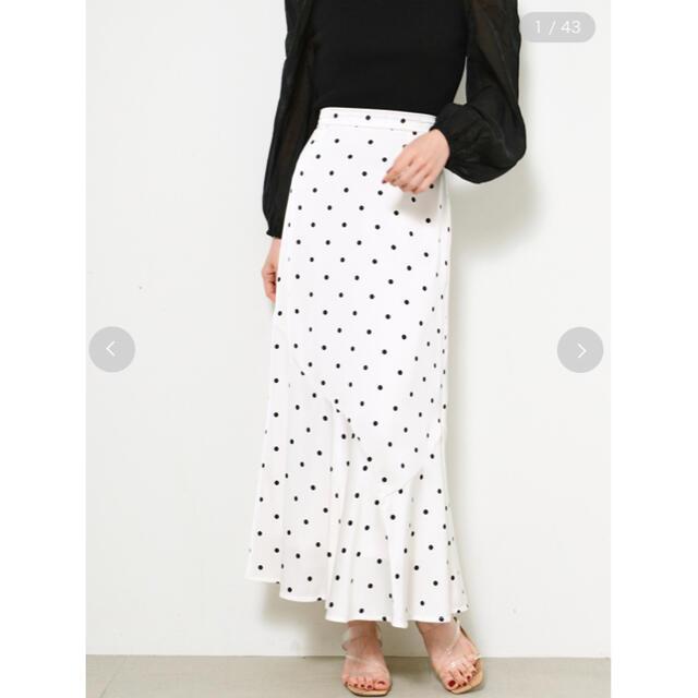 snidel(スナイデル)の[ako様専用]SNIDEL ドットジャガードナロースカート レディースのスカート(ロングスカート)の商品写真