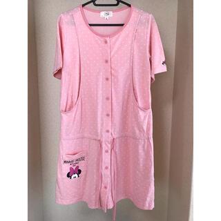 Disney - 前開きパジャマ ミニー ピンク