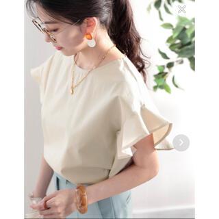 ローリーズファーム(LOWRYS FARM)の綿100% フレアフレンチブラウス(シャツ/ブラウス(半袖/袖なし))