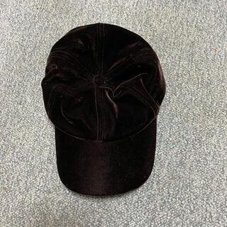 ジーユー(GU)のGUベロアキャップ 帽子(キャップ)
