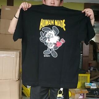 humanmadeフィギュアがら柄はんそで半袖tシャツくろ黒 L(Tシャツ/カットソー(半袖/袖なし))