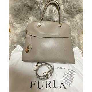 Furla - FURLA フルラ パイパーショルダーバッグ グレージュ 美品