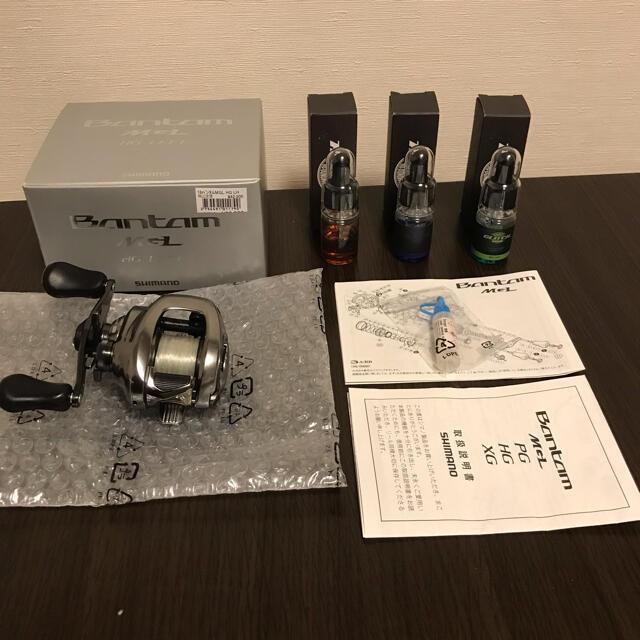 SHIMANO(シマノ)のシマノ バンタムMGL HG LEFT 左 美品 スポーツ/アウトドアのフィッシング(リール)の商品写真