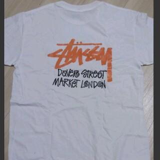 ステューシー(STUSSY)の新品 STUSSY ステューシー デザイン バックプリント ロゴ Tシャツ 白(Tシャツ/カットソー(半袖/袖なし))