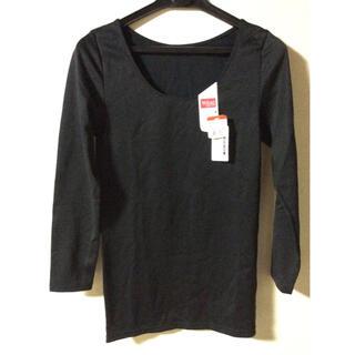 ウィング(Wing)のWing インナー シャツ 八分袖くらい Mサイズ ブラック(アンダーシャツ/防寒インナー)