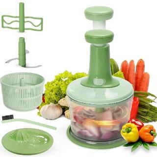 [新品] みじん切り器 みじんきりチョッパー サラダスピナー 野菜水切り器