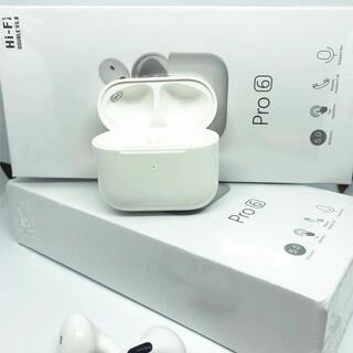 ★21年最新型★Pro6 AirPods型 イヤホン バッテリー内蔵 充電ケース