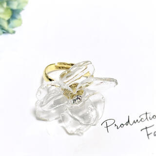 Clear Flower Ring お花の指輪