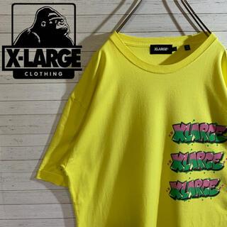 XLARGE - 【X-LARGE】エクストララージ 希少デザイン デカロゴ 人気カラー Tシャツ