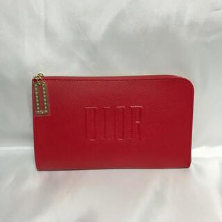 Dior - 未使用 ディオール L字形レザー調ポーチ 赤 ルージュ DIORクラッチバッグ