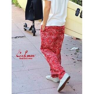 Supreme - Cookman クックマン シェフパンツ ペイズリー 赤 サイズS  美品