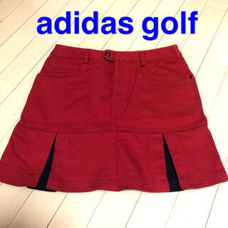 アディダス(adidas)のadidas golf スカート XL 赤(ウエア)