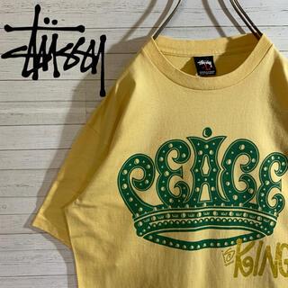 ステューシー(STUSSY)の【STUSSY】ステューシー 両面デザイン デカロゴ 希少くすみカラー Tシャツ(Tシャツ/カットソー(半袖/袖なし))