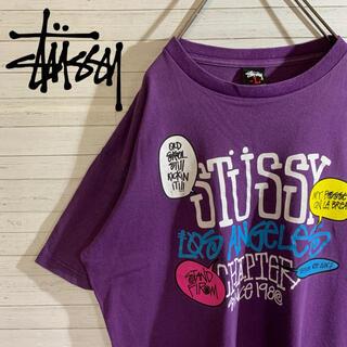 ステューシー(STUSSY)の【STUSSY】ステューシー 希少デザイン デカロゴ Tシャツ(Tシャツ/カットソー(半袖/袖なし))