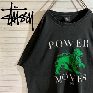 ステューシー(STUSSY)の【STUSSY】ステューシー レアデザイン ライオンロゴ ブラック Tシャツ(Tシャツ/カットソー(半袖/袖なし))