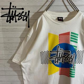 ステューシー(STUSSY)の【STUSSY】ステューシー 希少デザイン ラスタ デカロゴ Tシャツ(Tシャツ/カットソー(半袖/袖なし))