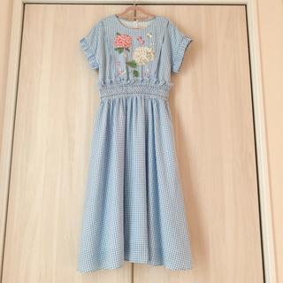 Chesty - CHESTY アジサイ刺繍ワンピース 0 ブルー