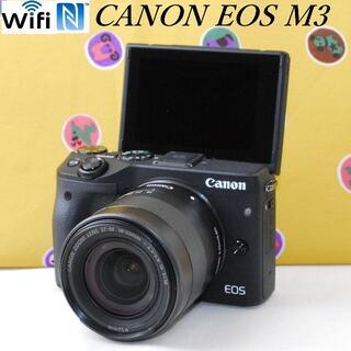 Canon - ★自撮り&Wi-Fiリモート撮影可 超高画質♪★キヤノン EOS M3