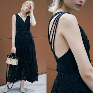 アメリヴィンテージ(Ameri VINTAGE)の新品 アメリ ワンピース ドレス ロングワンピース 黒 ブラック(ロングワンピース/マキシワンピース)
