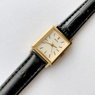 SEIKO - SEIKO 角形 レディースクォーツ腕時計 稼動品 ベルト未使用