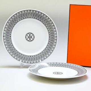 Hermes - エルメス H アッシュデコ デザートプレート皿 (22.5cm) × 2枚!